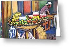 Market Merchant Of Granada Greeting Card