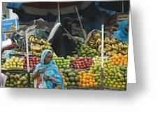 Market Of Djibuti-2 Greeting Card by Jenny Senra Pampin