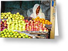 Market Of Djibuti-3 Greeting Card by Jenny Senra Pampin