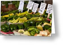 Market Peppers Greeting Card