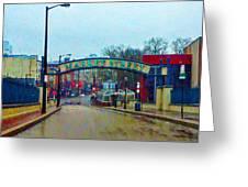 Market Street From Penns Landing Philadelphia Greeting Card