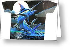 Marlin Moon Mens Shirt Greeting Card