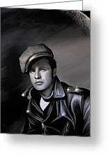 Marlon Brando  Greeting Card by Andrzej Szczerski