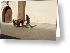 Marrakech Old Town Street Life Greeting Card