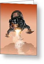 Mars Lander, Artwork Greeting Card