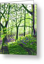 Marsh Marigolds And Bluebells Greeting Card