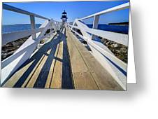 Marshal Point Lighthouse Walkway Greeting Card
