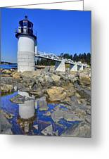Marshall Point Light Reflection Greeting Card