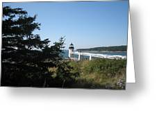 Marshall Point Lighthouse Greeting Card by Debra LePage