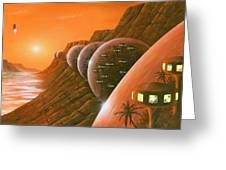 Martian Colony, Artwork Greeting Card