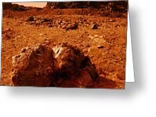 Martian Landscape Greeting Card