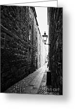 Martins Lane Narrow Entrance To Tenement Buildings In Old Aberdeen Scotland Uk Greeting Card