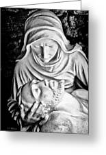 Mary Cradling Jesus Greeting Card