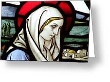 Mary Tears Greeting Card