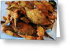 Maryland Steamed Crabs Greeting Card