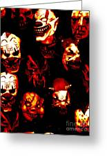 Masks Of Fear Greeting Card