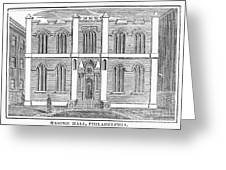 Masonic Hall, C1830 Greeting Card