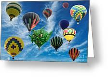 Mass Hot Air Balloon Launch Greeting Card