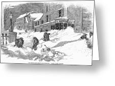 Massachusetts: Blizzard Greeting Card