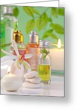 Massage Spa Concepts Greeting Card
