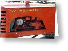 Massey Harris Details Greeting Card