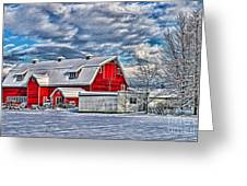 Matsqui Barn Hdr Greeting Card