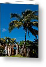 Maui Surfboard Fence - Oldest Section Greeting Card