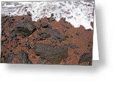 Mauis Red Shoreline Greeting Card