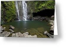 Mauis Wailua Falls Greeting Card