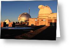 Mauna Kea Observatories Greeting Card