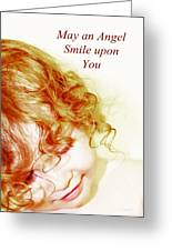 May An Angel Smile Upon You - Greeting Card And Print Greeting Card