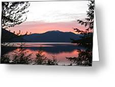 May Sunset On Kootenay Lake Greeting Card