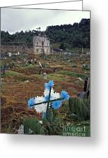 Mayan Cemetery Chiapas Mexico Greeting Card