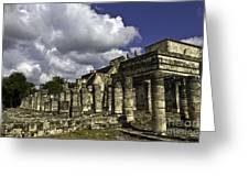 Mayan Colonnade Greeting Card