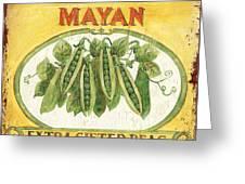 Mayan Peas Greeting Card