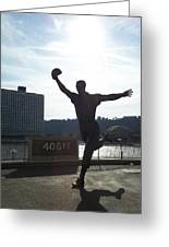 Mazeroski Statue In Pittsburgh Greeting Card