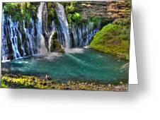 Mcarthur-burney Falls - Pool Greeting Card