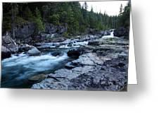 Mcdonald River Glacier National Park - 3 Greeting Card