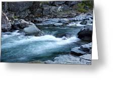Mcdonald River Glacier National Park - 4 Greeting Card