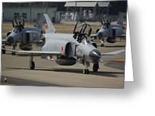 Mcdonnell Douglas F-4ej Phantom's Greeting Card
