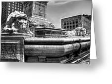 Mckinley Memorial In Black And White Greeting Card