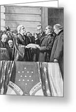 Mckinley Taking Oath, 1897 Greeting Card