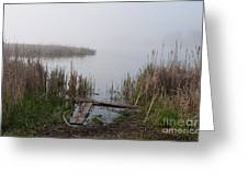 Mclaughlin Bay In The Fog At The Shore Greeting Card