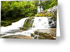 Mclean Falls In The Catlins Of South New Zealand Greeting Card