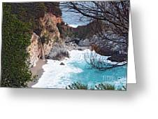 Mcway Falls In Spring Greeting Card