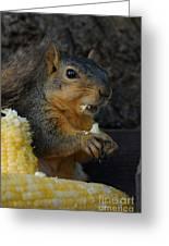 Me Love Sweet Corn Greeting Card