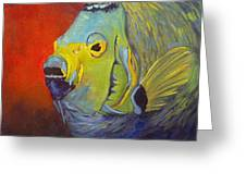 Mean Green Fish Greeting Card