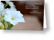 Meaning Of Things Greeting Card