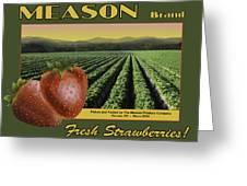 Meason Strawberries Greeting Card