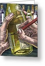Measuring Alcohol Intake, Artwork Greeting Card